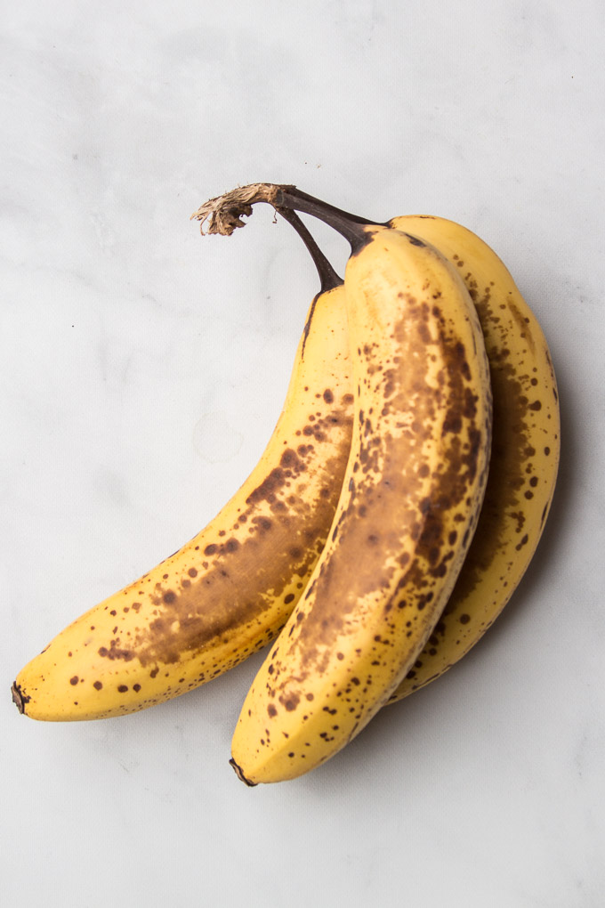 Overripe Bananas on a Marble Background