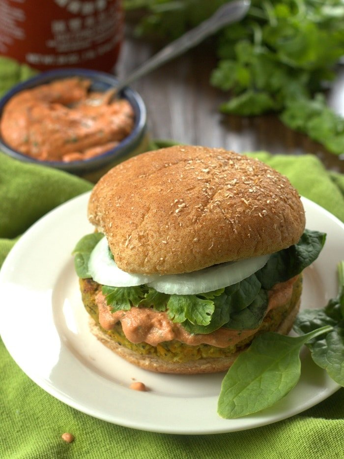 ... veggie burgers. In fact, maybe again with the Indian food veggie