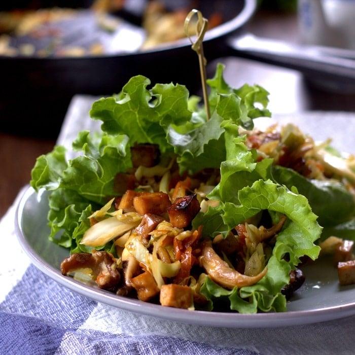 Moo Shu Tofu Lettuce Wraps - Connoisseurus Veg