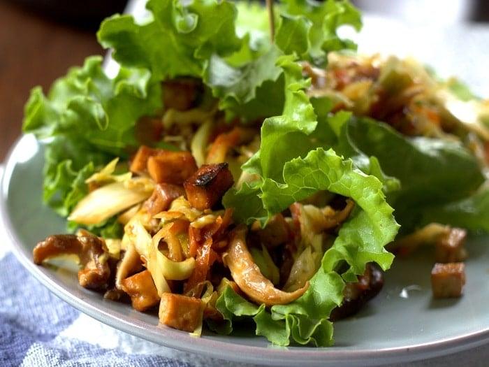 Moo Shu Tofu Lettuce Wraps