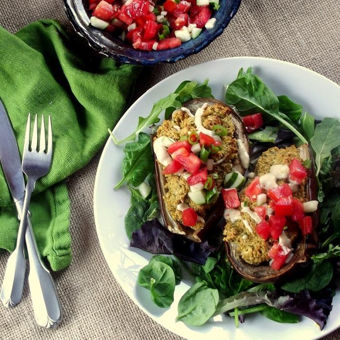 ... baked roasted poblano kale falafel calizonia cauliflower falafel