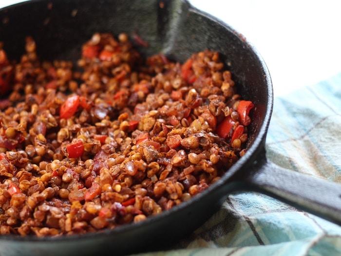Lentil Walnut Vegan Chorizo