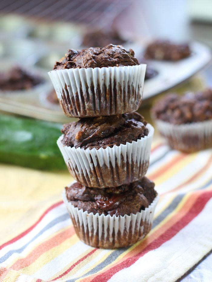 Chai Spiced Chocolate Zucchini Muffins