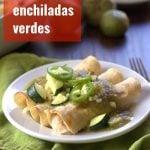 White Bean Enchiladas Verdes