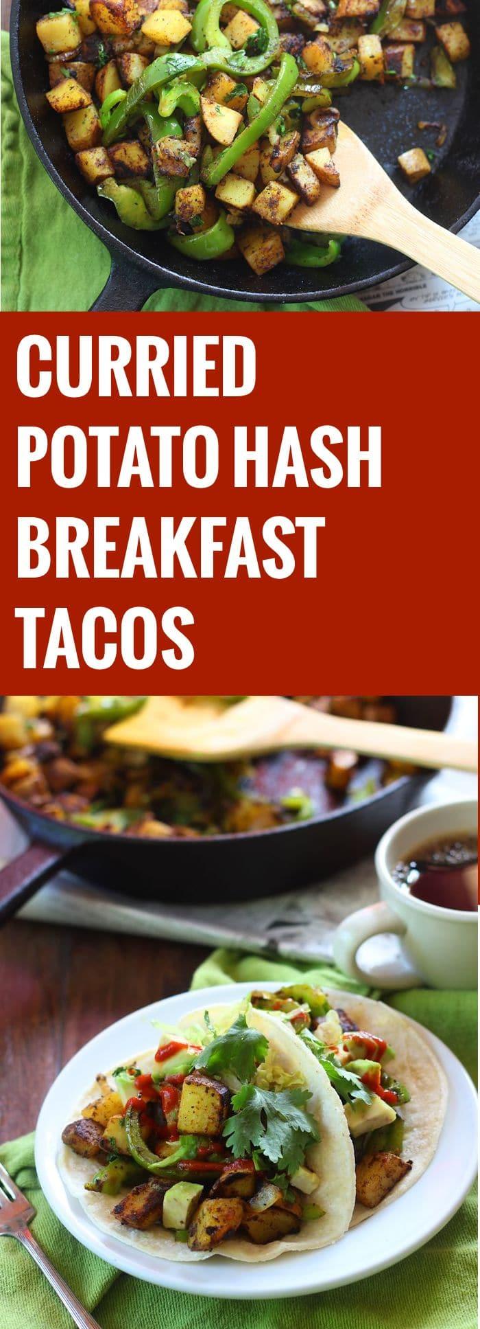 Curried Potato Hash Tacos