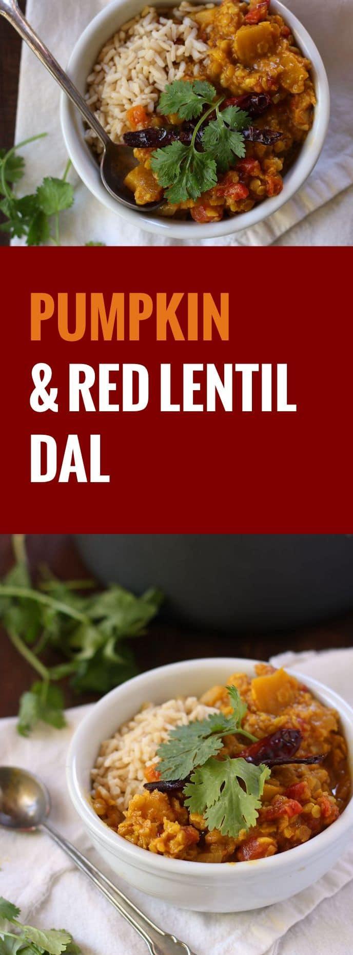 Red Lentil Pumpkin Dal