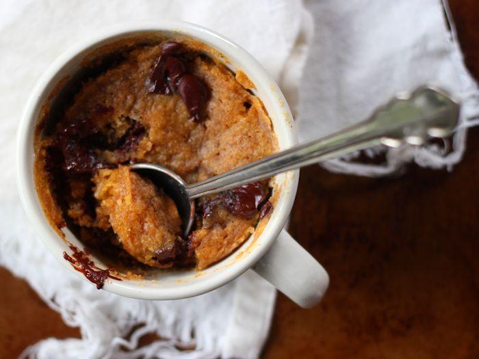 Vegan Chocolate Chip Pumpkin Mug Cake
