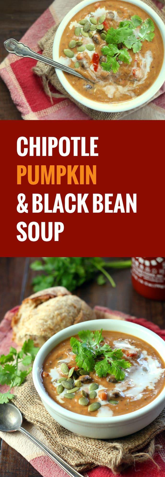 Chipotle Pumpkin Black Bean Soup
