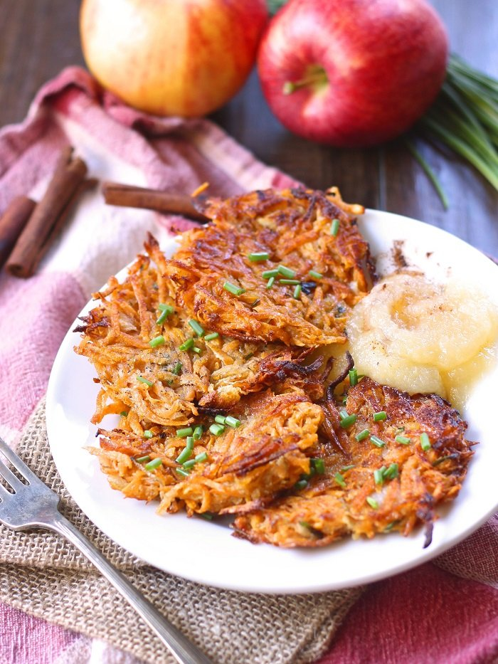 Celebrate fall with these vegan sweet potato latkes from Crossroads by ...