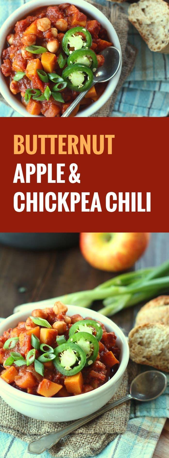 butternut squash chickpea chili