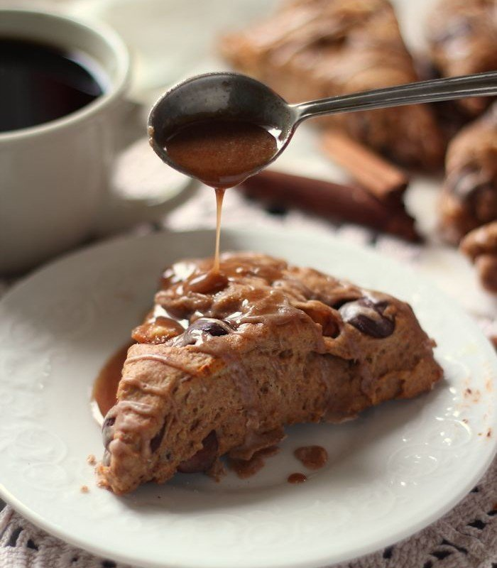 Spiced Chocolate Chunk Pear Scones