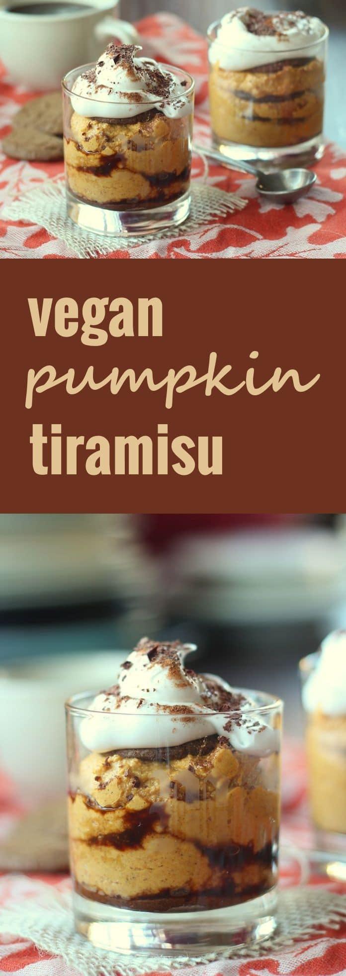 Vegan Pumpkin Gingersnap Tiramisu
