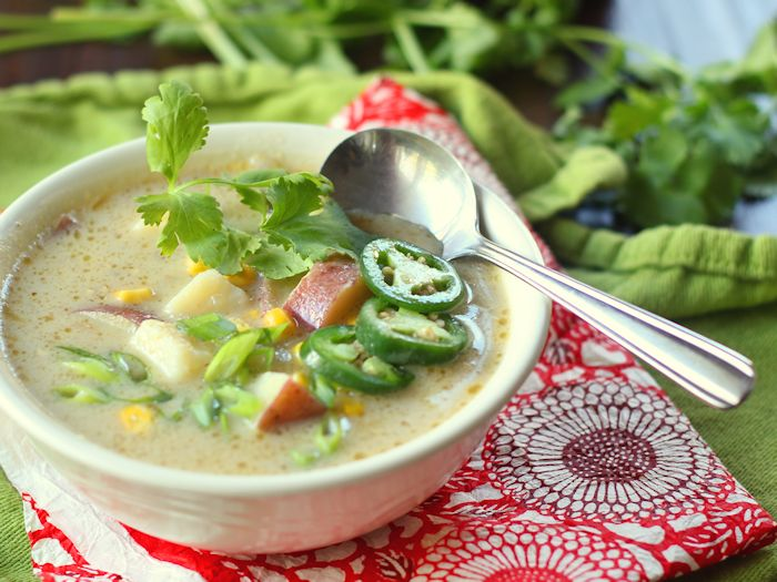 Ridiculously Easy Veggie Green Curry Potato Soup