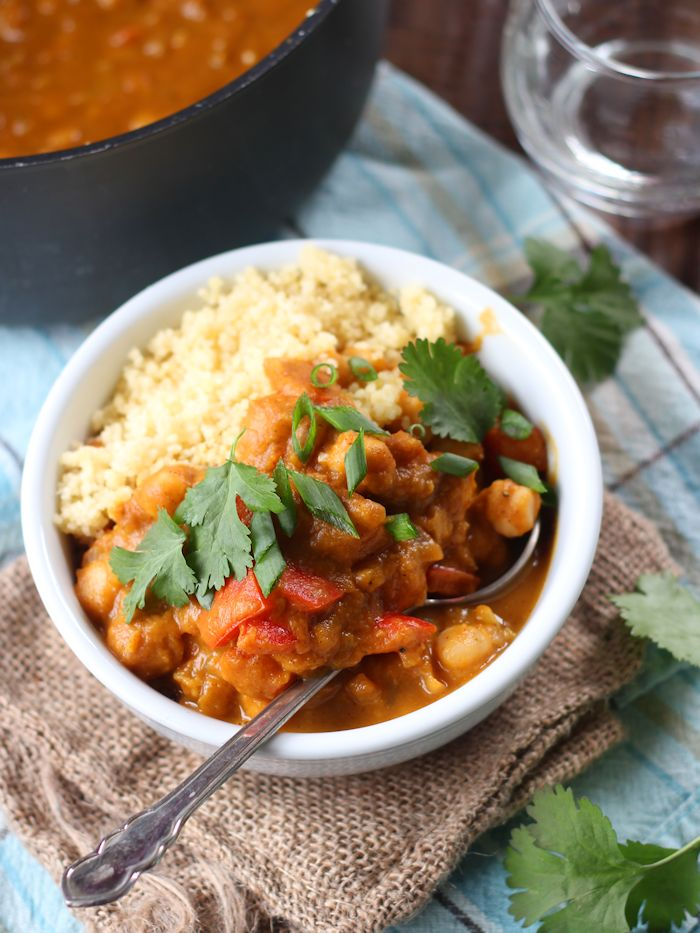 Moroccan Spiced Pumpkin & Chickpea Stew