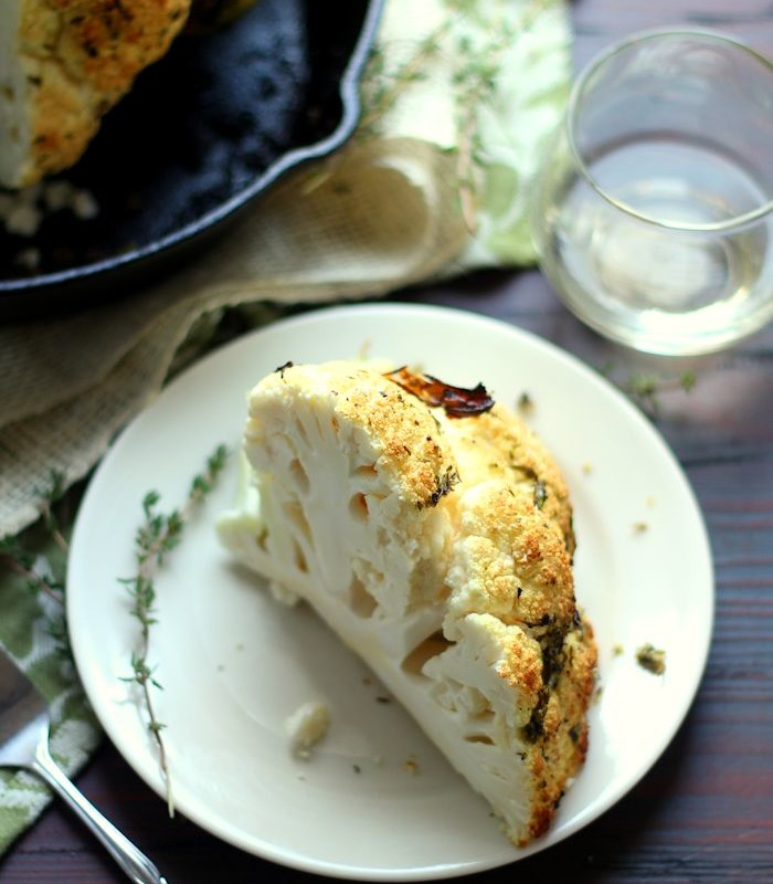Garlic & Herb Crusted Whole Roasted Cauliflower