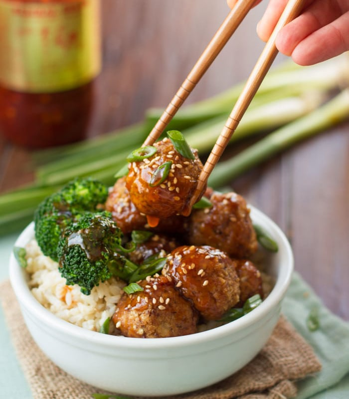 Ginger Glazed Tofu Meatballs