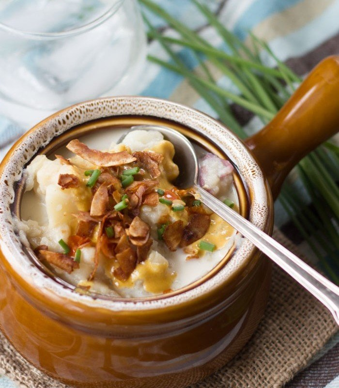 Loaded Vegan Potato Soup