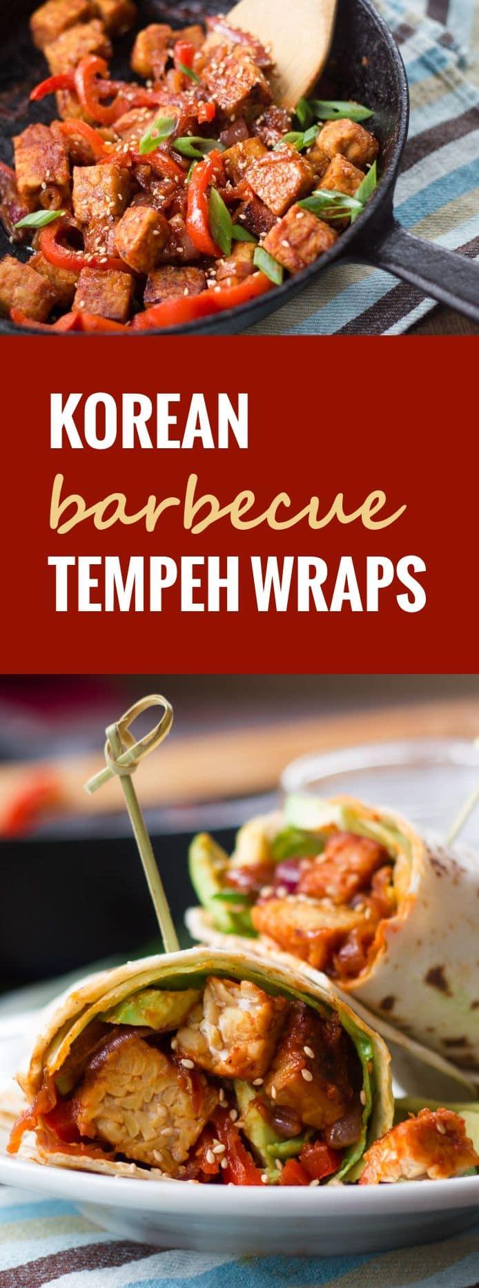 Korean Barbecue Tempeh Wraps