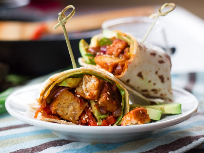 Korean Barbecue Tempeh Wraps
