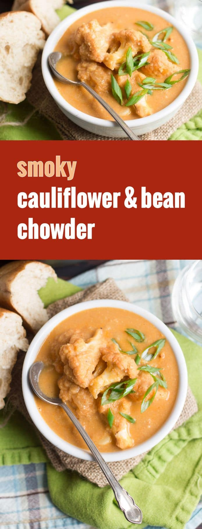Smoky White Bean & Cauliflower Chowder