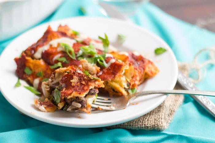 Black Bean & Spinach Enchiladas