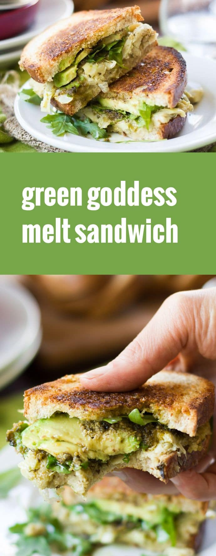 Vegan Green Goddess Melt Sandwich