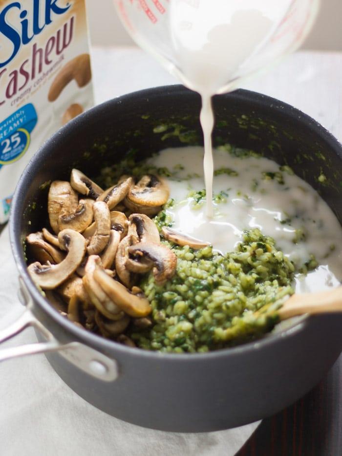 Creamy Kale Pesto Risotto