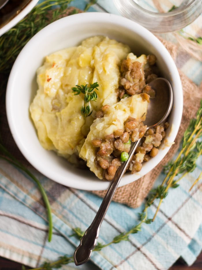 Whiskey Lentil Vegan Shepherd's Pie