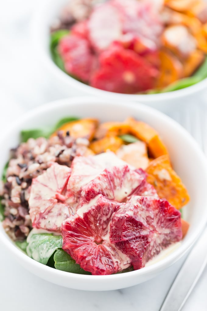 Nourish Bowls with Creamy Lemon Garlic Dressing – Get Inspired ...
