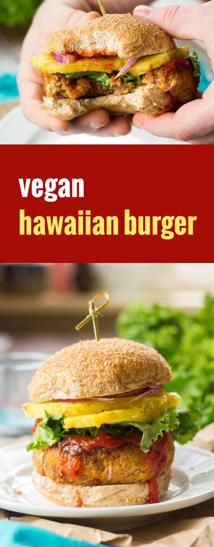 Vegan Hawaiian Burgers