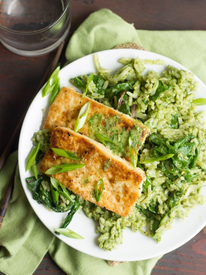 Tofu slabs are coated in shredded coconut, pan-fried to crispy ...