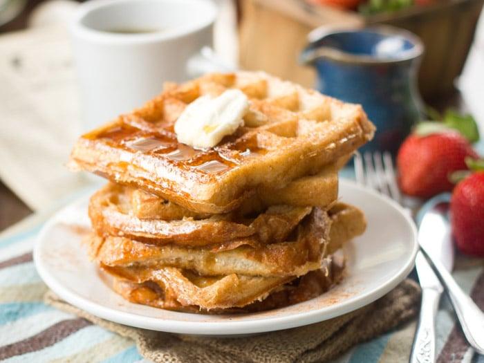 Vegan French Toast Waffles - Connoisseurus Veg