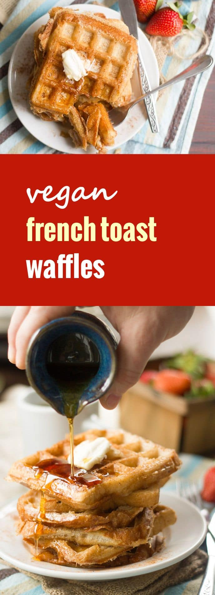 Vegan French Toast Waffles