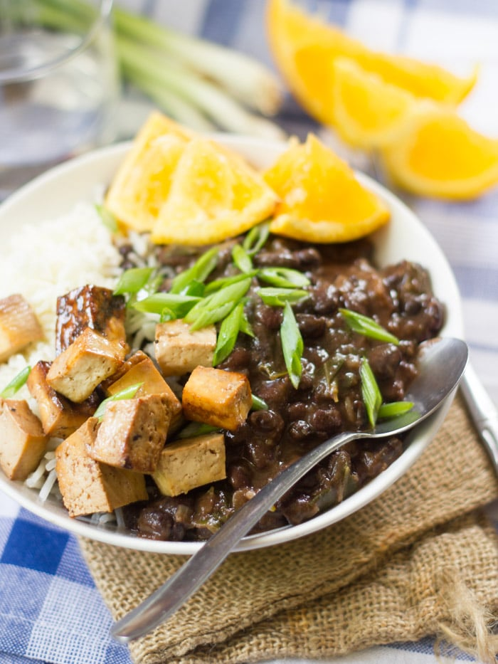 Vegan Brazilian Black Bean Bowls