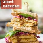 Crispy Maple Dijon Tempeh Sandwiches