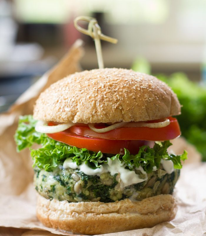 Garlicky Kale Burgers
