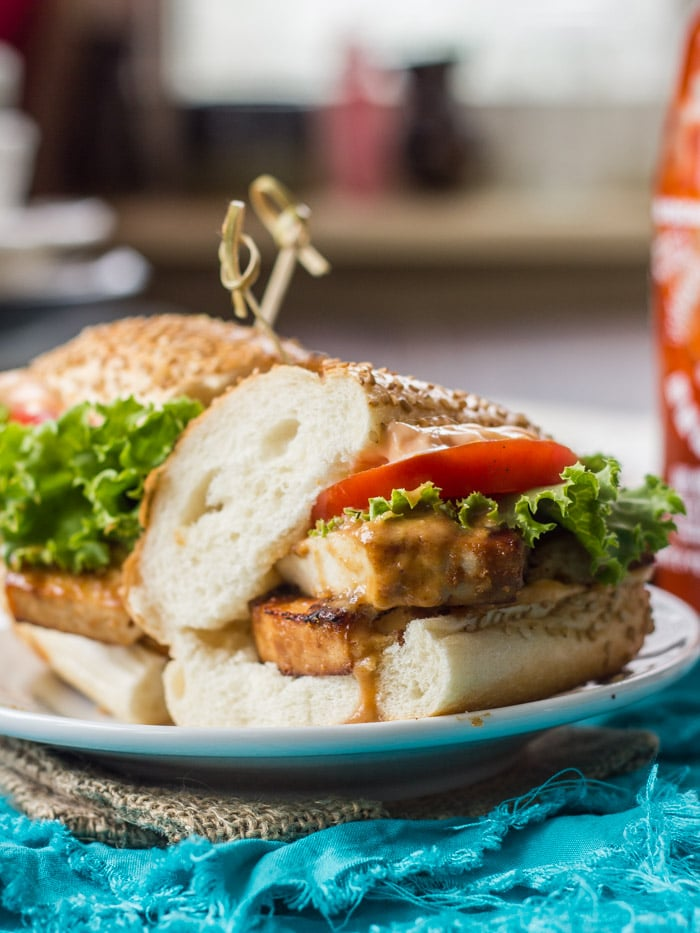 peanut tofu sandwiches with sriracha mayo thai inspired baked peanut ...