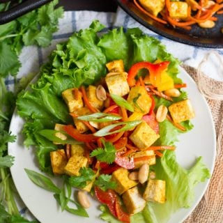 Curried Tofu Lettuce Wraps