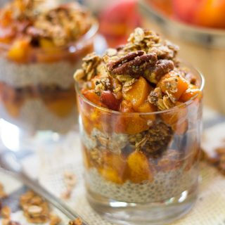 Peach Crisp Chia Pudding Parfaits