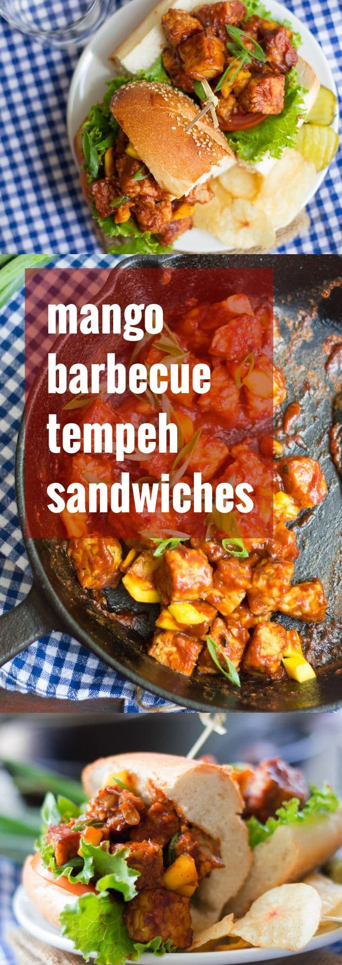 Mango Barbecue Tempeh Sandwiches