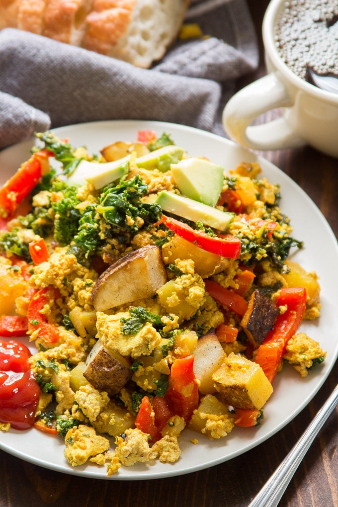 Close Up of Tofu Scramble on a Plate