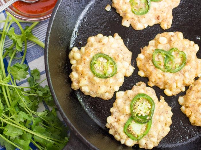 Jalapeño Vegan Corn Fritters