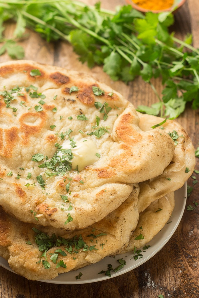 Vegan Naan on a Plate