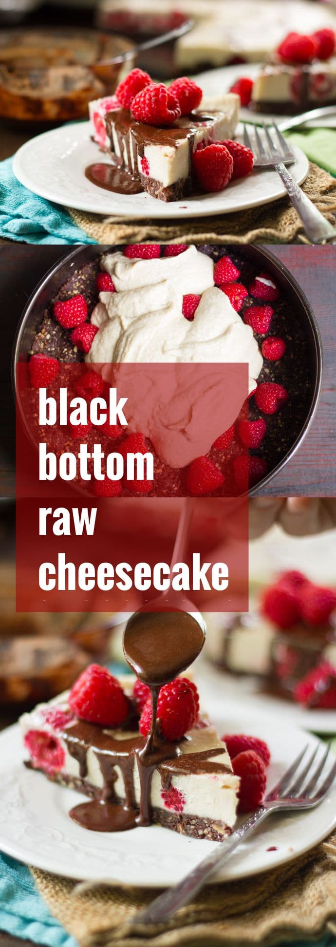 Black Bottom Raw Cheesecake