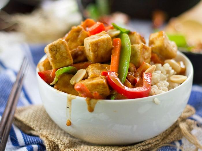 Rainbow Peanut Butter Stir-Fry