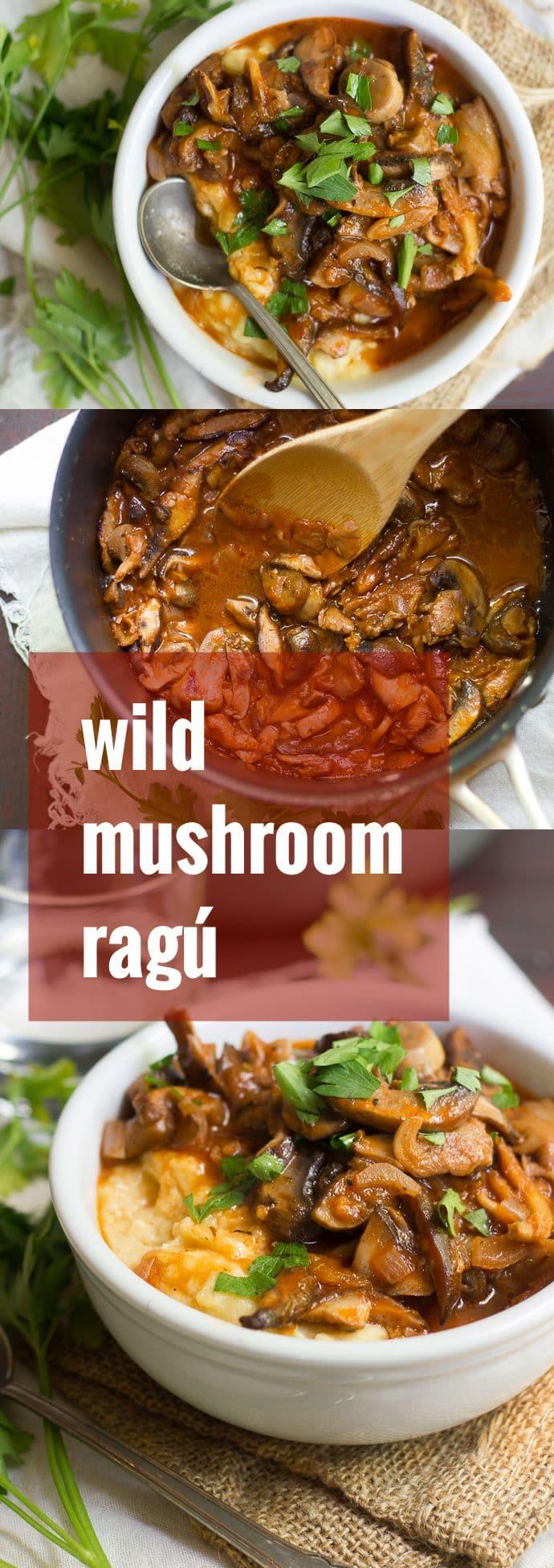 Wild Mushroom Ragú with Creamy Polenta