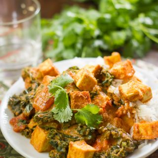 Creamy Cashew Curry with Tofu & Kale