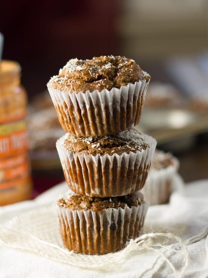 Vegan Peanut Butter Blackstrap Molasses Muffins
