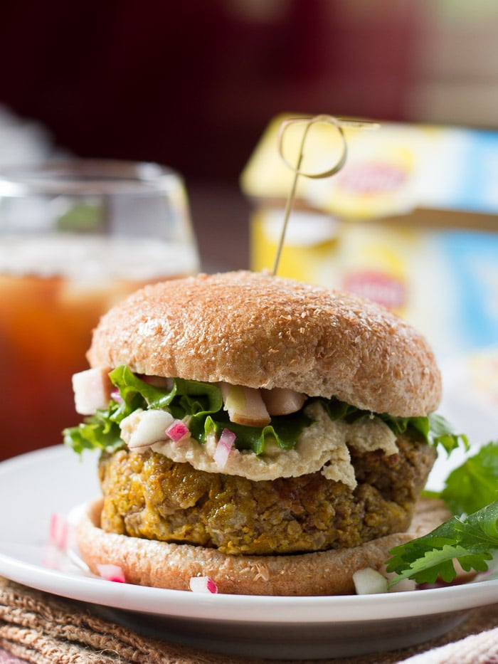 Nutty Pumpkin Burgers with Apple Relish