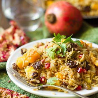 Butternut Squash Jeweled Rice